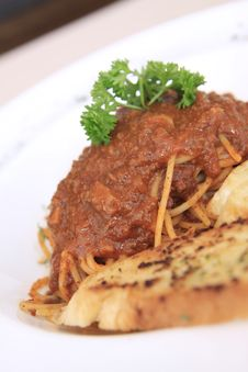 Free Spaghetti With Meat Sauce Royalty Free Stock Image - 20774456