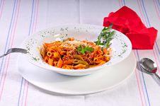 Free Italian Spaghetti Pasta On Table Royalty Free Stock Photography - 20775027