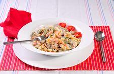 Free Italian Spaghetti Pasta On Table Royalty Free Stock Photo - 20775055