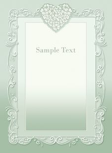 Free Wedding Invitation, Beautiful Heart Stock Photo - 20775150