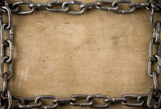 Free Metal Chain On Old Wood Texture Royalty Free Stock Photo - 20775735