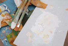 Free Artist S Stained Palette Royalty Free Stock Image - 20775756