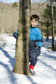 Free Child On The Snow Stock Image - 20775781
