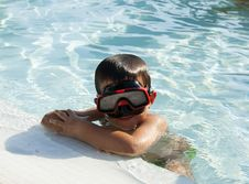 Free Kid Into The Swimming Pool Royalty Free Stock Photo - 20775835