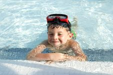Free Kid Into The Swimming Pool Stock Photography - 20775862