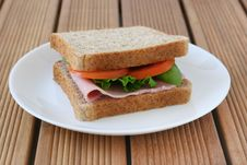 Free Toast With Ham And Tomato Royalty Free Stock Photo - 20775975