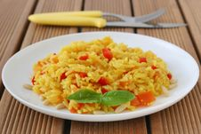Free Rice With Pepper Royalty Free Stock Photography - 20776017