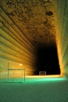 Free Football Field Underground Royalty Free Stock Photography - 20776277