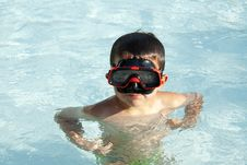 Free Kid Into The Swimming Pool Stock Photography - 20776322