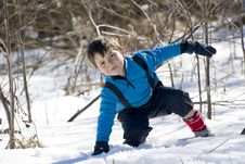 Free Child On The Snow Stock Images - 20776344