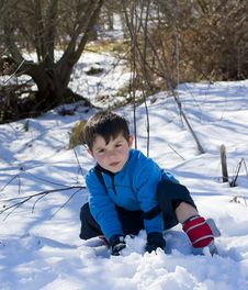 Free Child On The Snow Royalty Free Stock Photo - 20776365