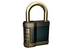 Free Closed Combination Padlock Royalty Free Stock Image - 20776726