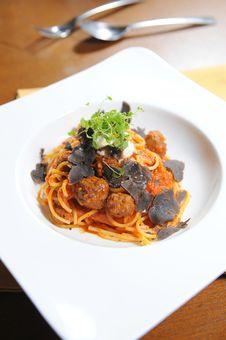 Free Spaghetti Meatball Tomato Sauce Stock Images - 20776784