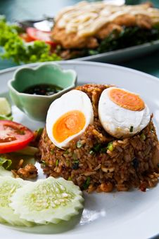 Free Fried Rice With Chili Dip Stock Photos - 20779433