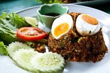 Free Fried Rice With Chili Dip Stock Images - 20779464