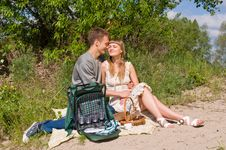 Portrait Of Love In Nature Stock Photos