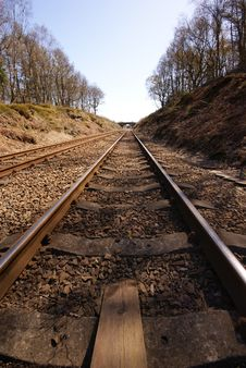 Free A Vanishing Train Line Stock Image - 20779891