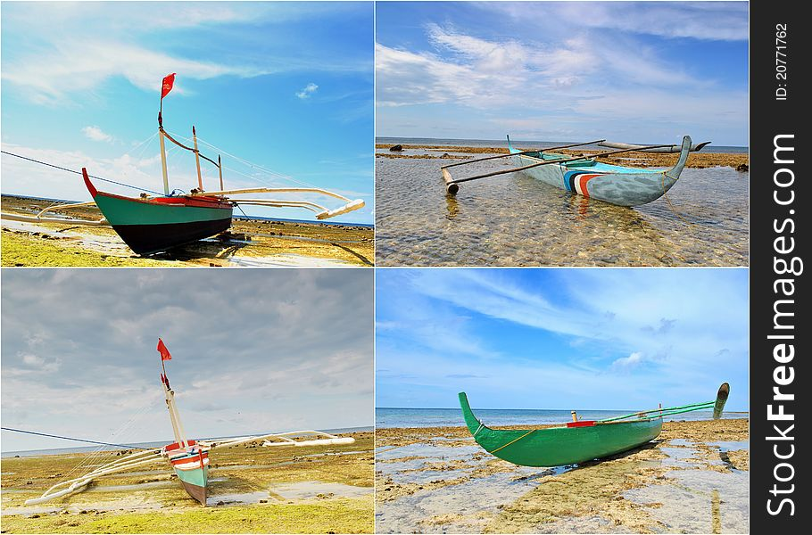 Fishing Boats Collage