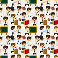 Free Seamless Cartoon Office Worker Pattern Royalty Free Stock Images - 20785809
