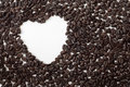 Free Coffee Beans With Heart-shaped Hole Stock Images - 20786134