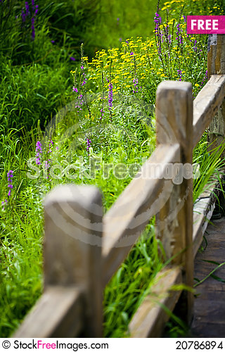 Free Wooden Garden Fence Stock Images - 20786894