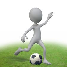 Free Playing Football Stock Images - 20780804