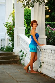 Free Woman On A Territory Of The Old Mansion Royalty Free Stock Photo - 20781235