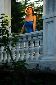 Free Woman On A Territory Of The Old Mansion Royalty Free Stock Photos - 20781298