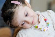 Free A Tender Portrait Of Blue-eyed Baby Girl Royalty Free Stock Photos - 20781348