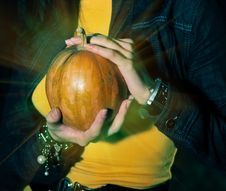 Magic Pumpkin Stock Image