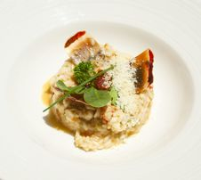 Free Closeup Of Risotto With Lobsters Royalty Free Stock Image - 20782536