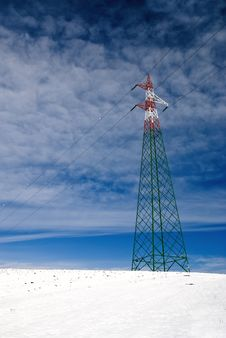 Free Electricity Pylon Isolated Royalty Free Stock Photos - 20782658