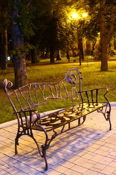 Free Park Bench At Night Stock Photos - 20782883