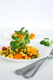 Free Corn Salad Royalty Free Stock Photo - 20783215
