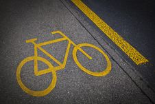 Free Bicycle Road Mark Stock Image - 20783381