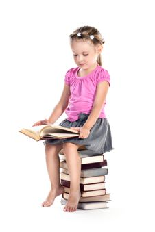 Free Little Girl Reading Book Royalty Free Stock Photography - 20783827