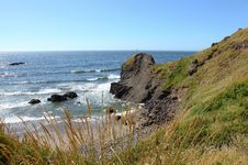 Oregon Coast Pacific Northwest Cliffs & Beaches. Royalty Free Stock Image