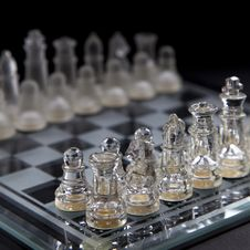 Free Playing Chess In Glass Stock Photography - 20784202