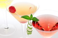 Free Martini Alcohol Cocktails In Row Margarita Royalty Free Stock Image - 20784826