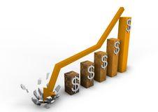 Free Crashing Dollar Graph Stock Photos - 20784833