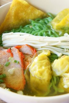 Close Up Chinese Noodle Royalty Free Stock Photos