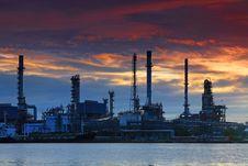 Free Oil Refinery At Twilight, Thailand Stock Photos - 20785393