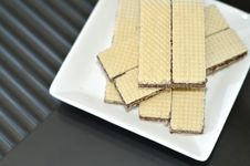 Chocolate Wafers - Top View Royalty Free Stock Images