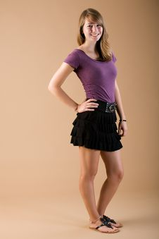 Free Teen Fashion Skirt Stock Photography - 20785672