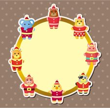 Free Cartoon Xmas Party Animal  Card Stock Images - 20785824