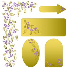 Free Vector Ornament With Flowers And Leaves. Stock Photos - 20786343