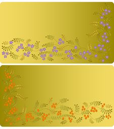 Free Vector Ornament With Flowers And  Berries. Royalty Free Stock Photography - 20786367