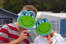 Free Frogs Faces Royalty Free Stock Photo - 20786635
