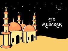 Illustration For Eid Mubarak Celebration Royalty Free Stock Photography
