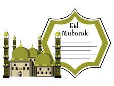 Illustration For Eid Mubarak Royalty Free Stock Photo